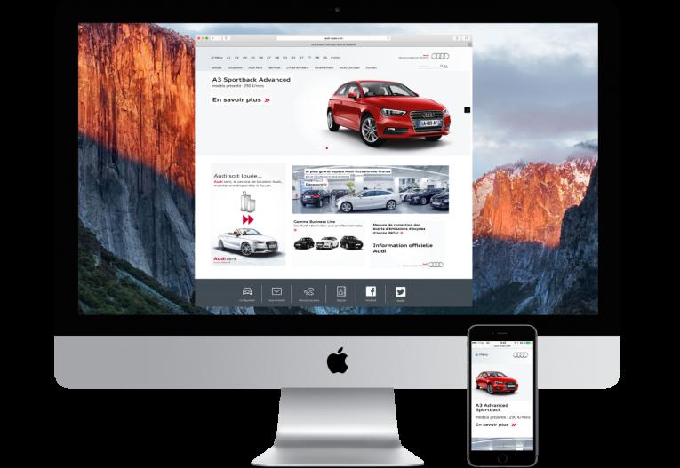 agence web Rouen pôles - site internet partenaire Audi - page accueil