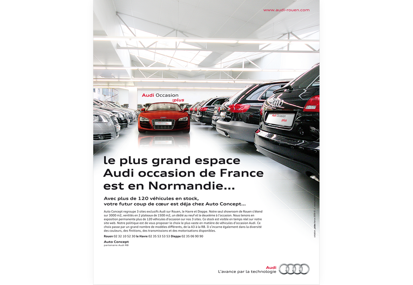 affiche publicitaire rouen audi occasion p les agence communication rouen. Black Bedroom Furniture Sets. Home Design Ideas