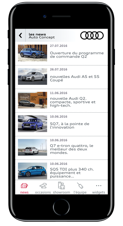 application iPhone Audi