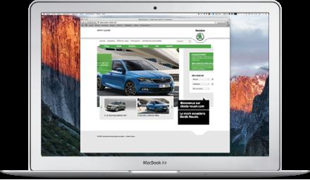 web partenaire Skoda