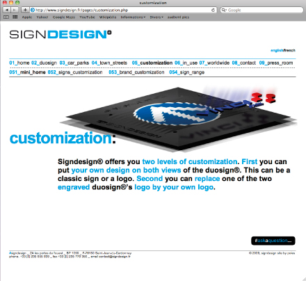 web signdesign