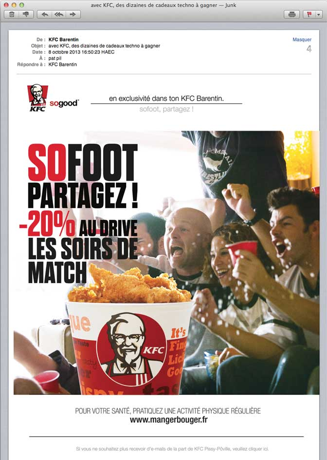 kfc-so-foot-emailing-mailing