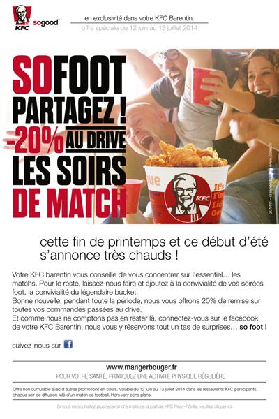 emailing sofoot KFC