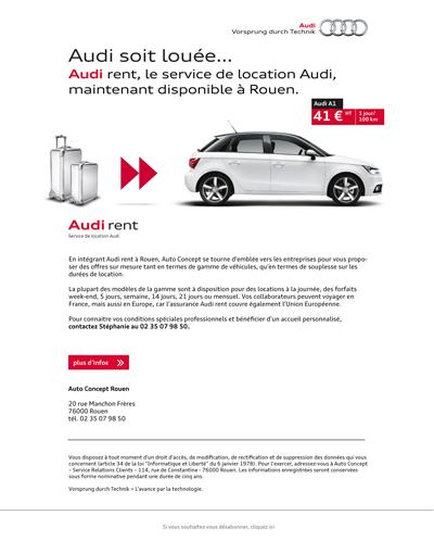 emailing Audi Rent