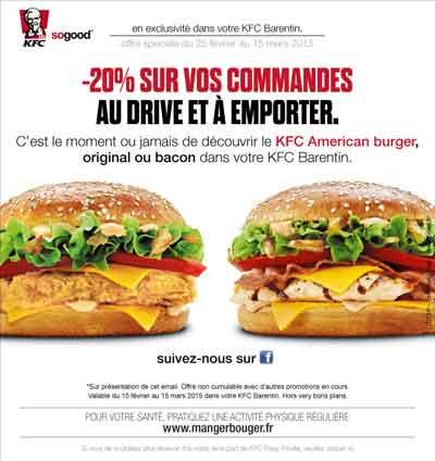 emailing KFC American Burger