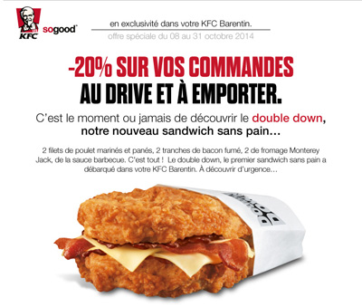 emailing Double Down KFC