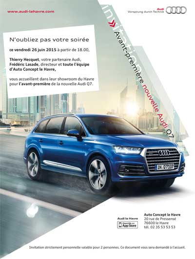 emailing invitation Audi Q7