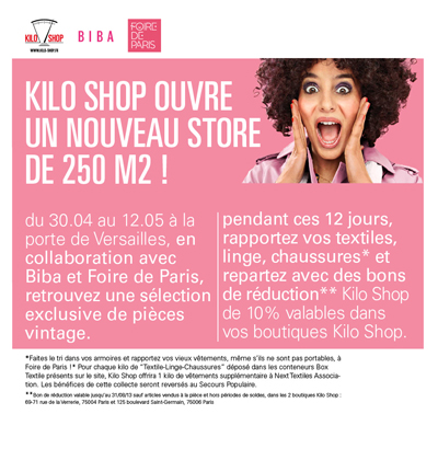 emailing Kiloshop foire de Paris