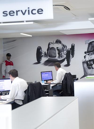 accueil atelier Audi Rouen